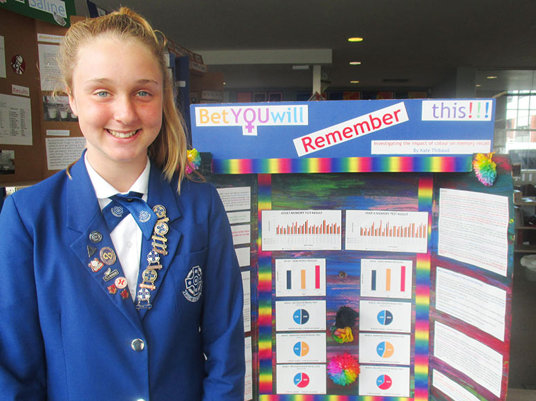 Ten Awards for Girls' School at Science Fair!