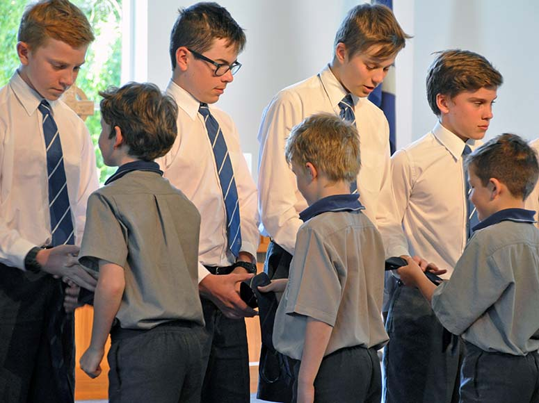 Boys' Senior School Leavers' Tie Presentation