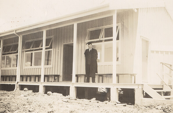 1953 MacFarlan with his new school.jpg