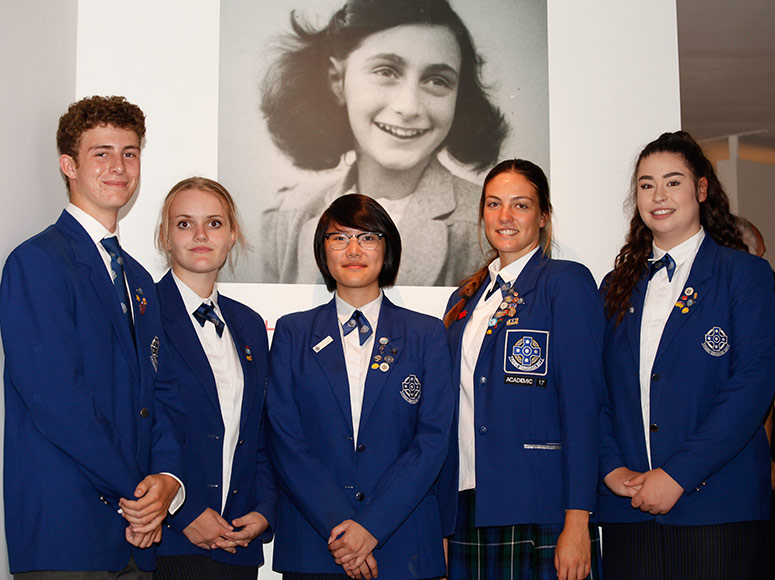 Students Offer Service at Anne Frank Exhibition